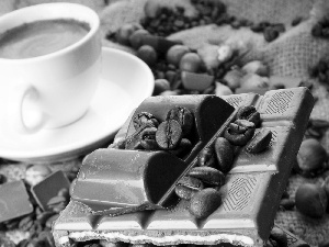 chocolate, cup, coffee