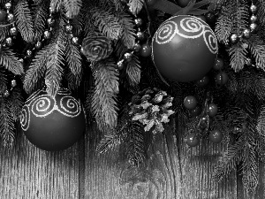 decoration, cones, baubles, Christmas, Twigs