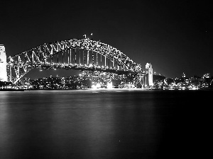 Sydney, Harbour Bridge, City at Night, Australia