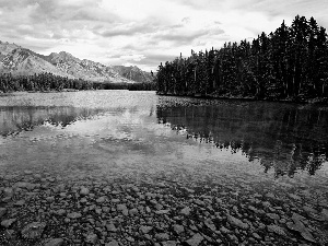 Banff, Canada, woods, Mountains, lake, National Park