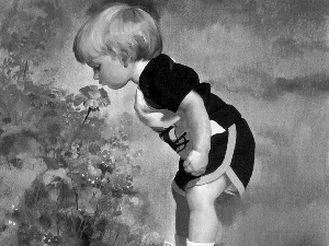 Donald Zolan, boy, Flowers