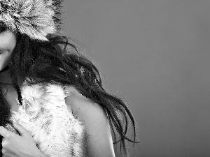 Fur, Women, Hat