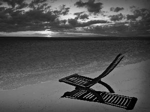 Great Sunsets, holiday, hammock chair, clouds, sea