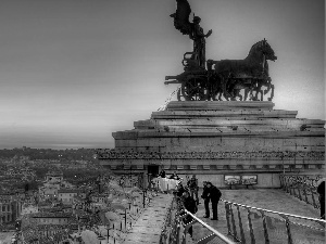 Monument, People, Rome, Town, Italy