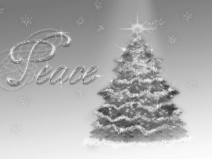 peace, christmas tree, ornamentation