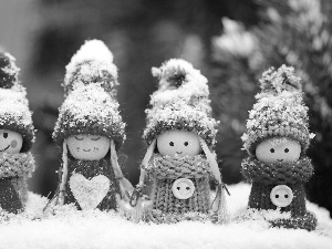 winter, dolls, Snow White