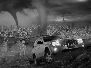 Grand Cherokee, tornadoes, Town