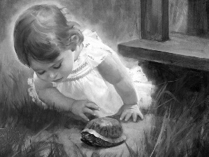 Donald Zolan, girl, turtle