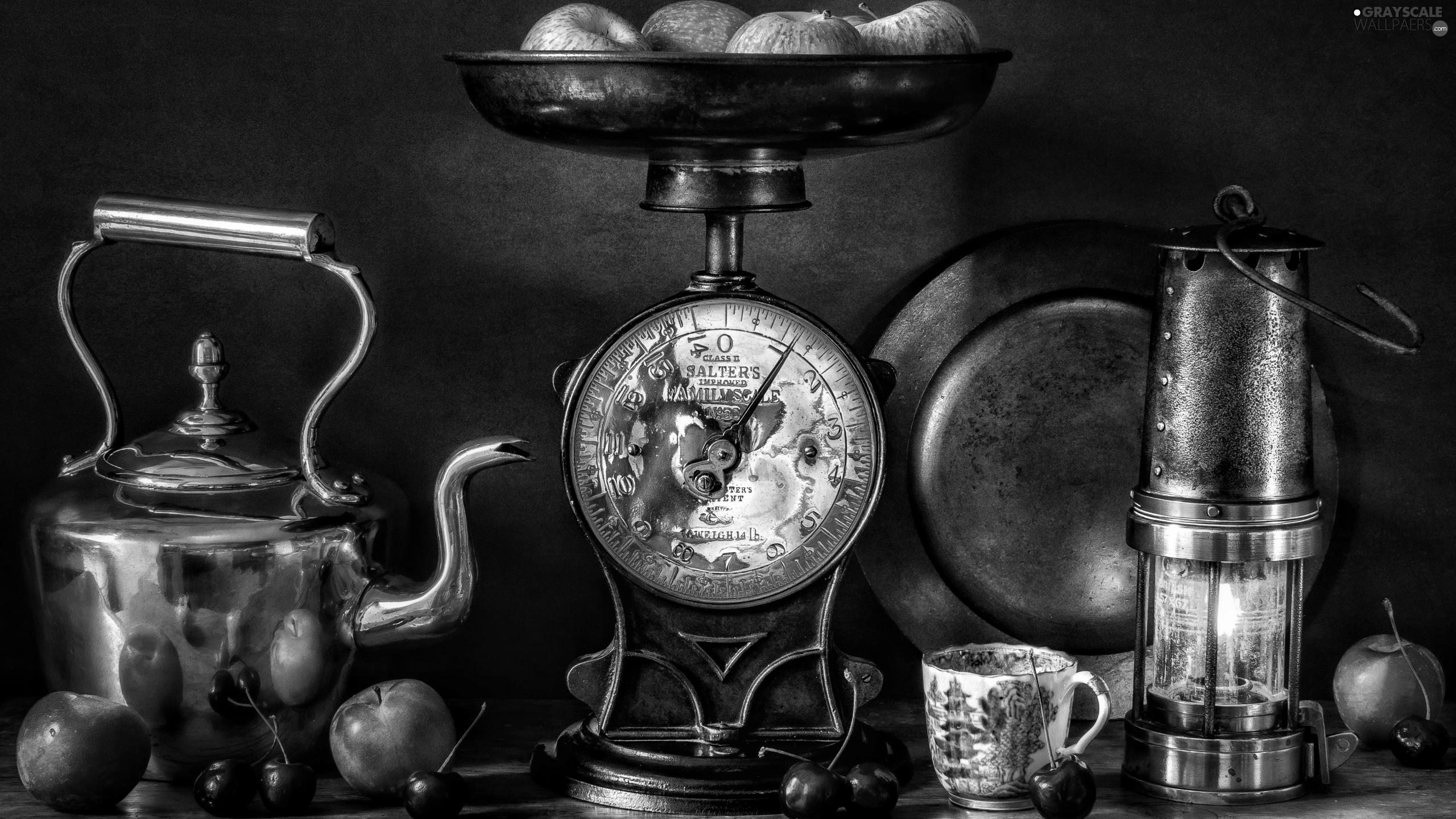 kettle, weight, cup, Antiques, Lamp, apples