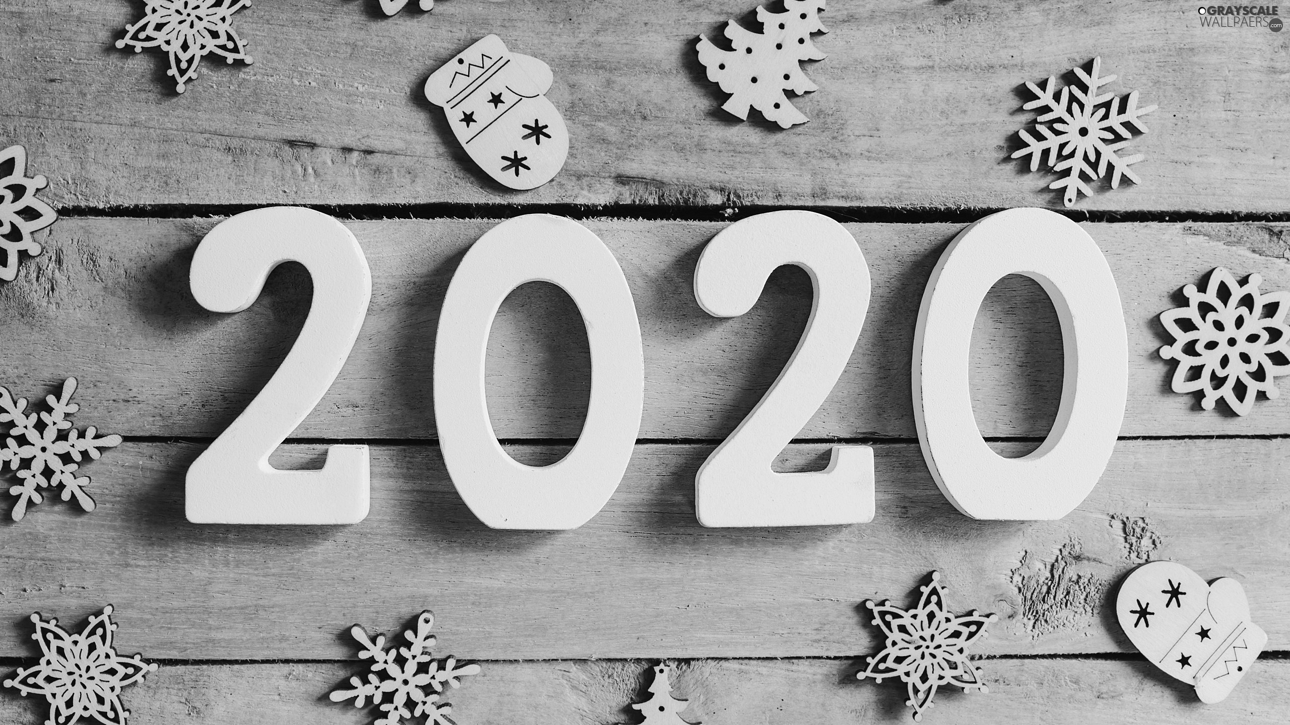 2020, New Year, ornamentation, boarding, Snow White, numbers