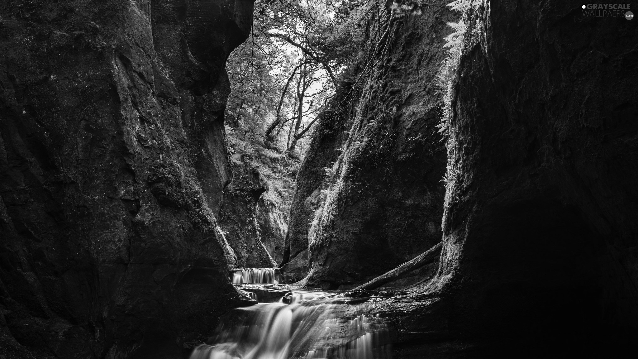 Stirling, Scotland, Finnich Glen, Carnock Burn River, Scotland