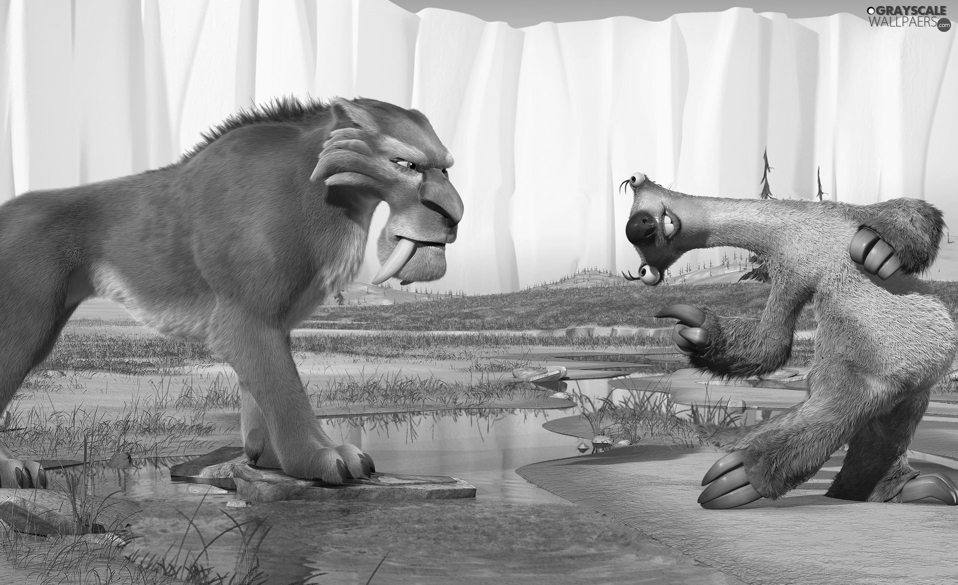 Ice Age 2, sloth, tiger, Ice Age