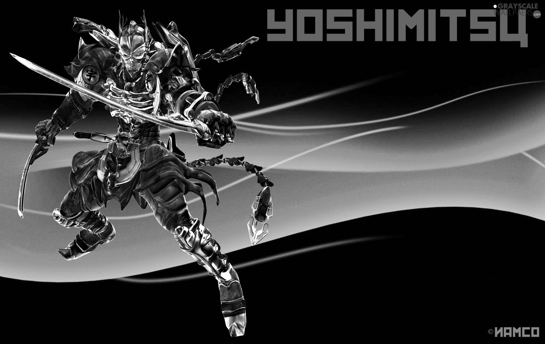 Grayscale Tekken 6 Yoshimitsu 1900x1200